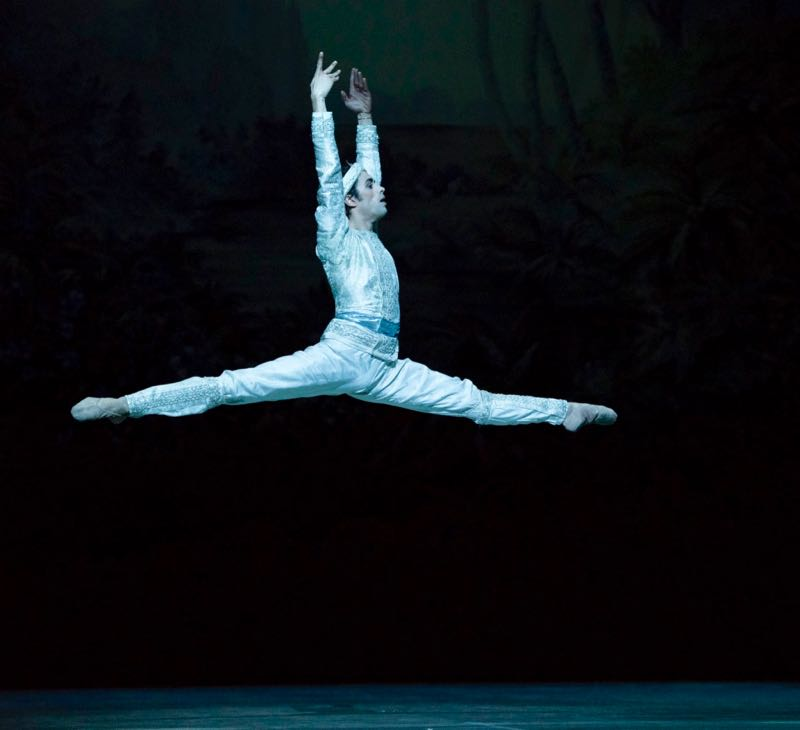 Mathias Heymann interprète Solor dans <i>La Bayadère</i>.  © Little Shao/OnP