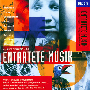 CD catalogue de la collection Decca <i>Entartete Musik</i>.