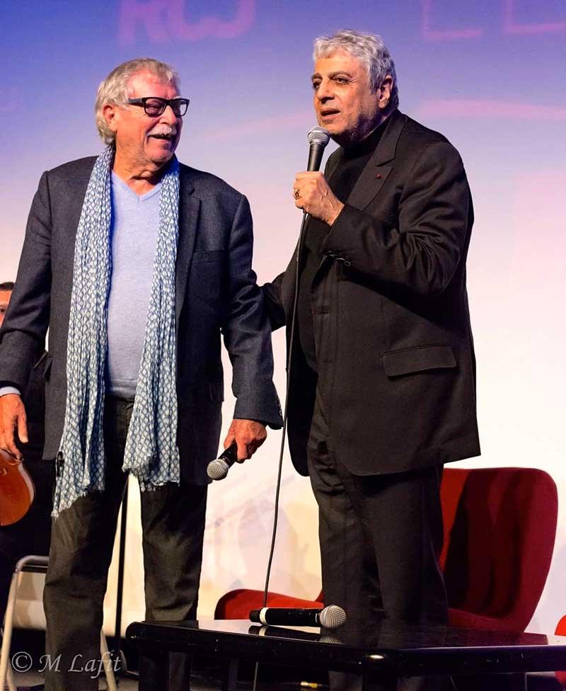 Jean Claudric et Enrico Macias, une collaboration de longue date.  © M. Lafit