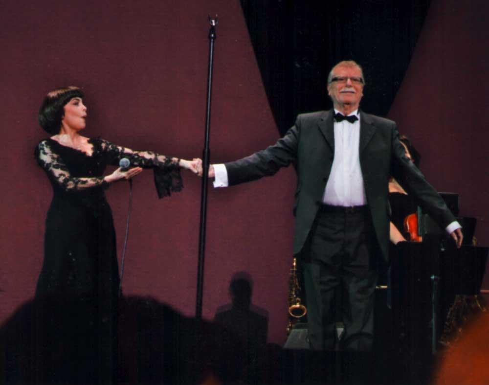 Mireille Mathieu et Jean Claudric.  D.R.