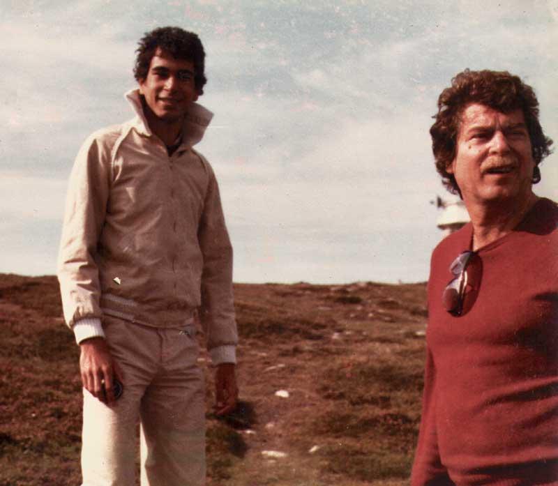 Nicolas Bacri et son père Jean Claudric en 1979.  D.R.
