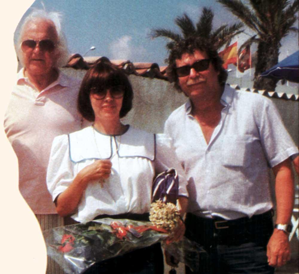 Johnny Stark, Mireille Mathieu et Jean Claudric.  D.R.