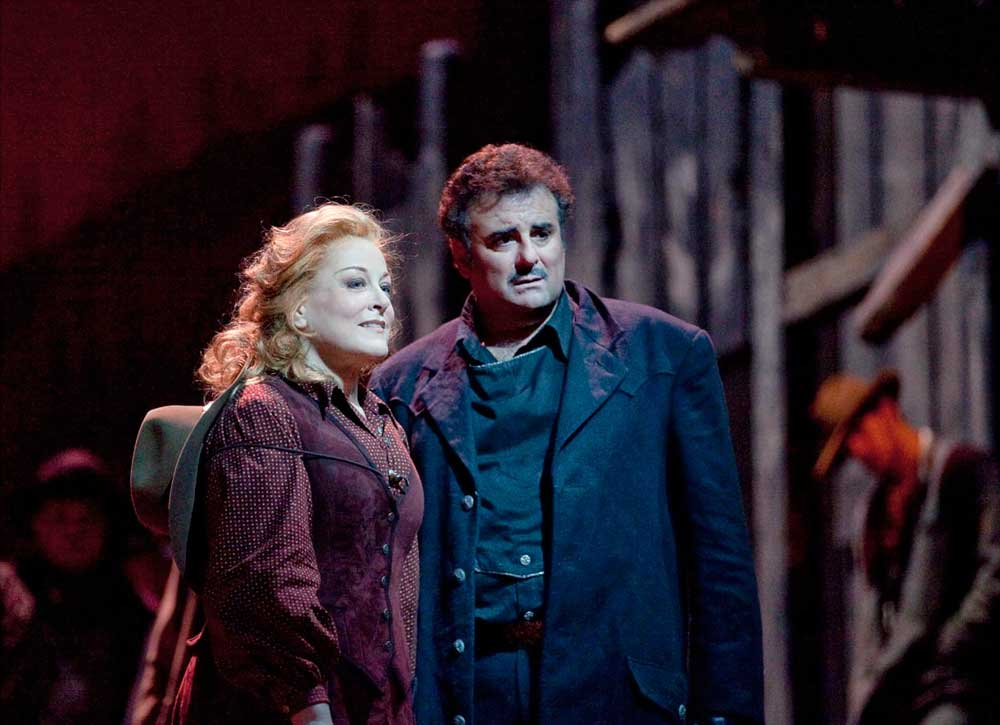Deborah Voigt et Marcello Giordani.  Photo Ken Howard/Metropolitan Opera