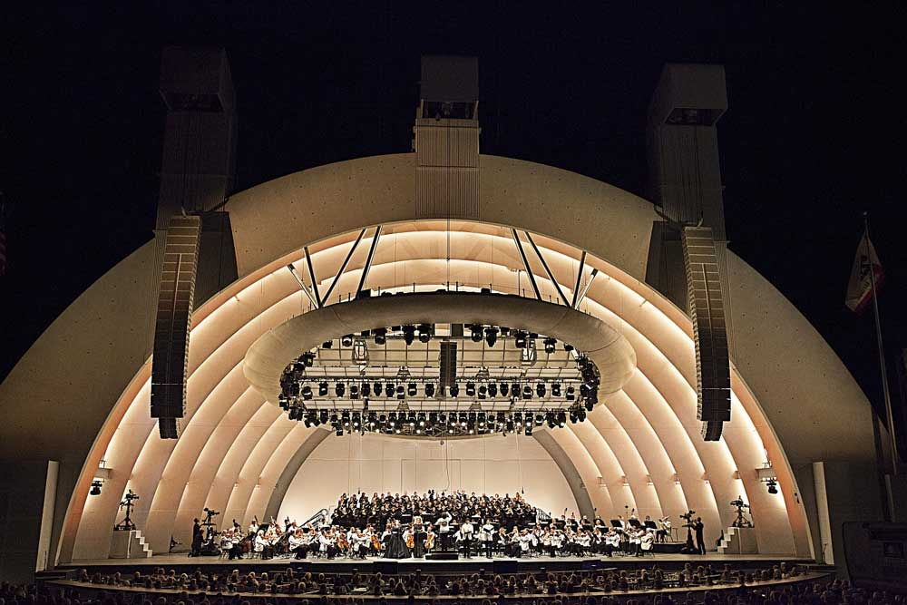 <i>Requiem</i> de Verdi à l'Hollywood Bowl en août 2013.  © Augusta Quirk
