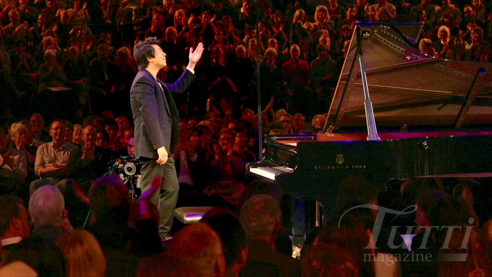 Applaudissements pour Lang Lang au Royal Albert Hall.