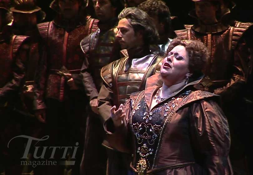 Susan Neves chante Elvira dans <i>Ernani</i> à Parme.