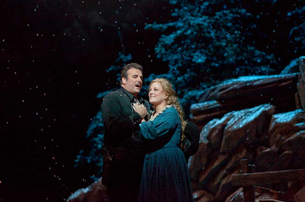 Marcello Giordani et Deborah Voigt.  Photo Ken Howard/Metropolitan Opera