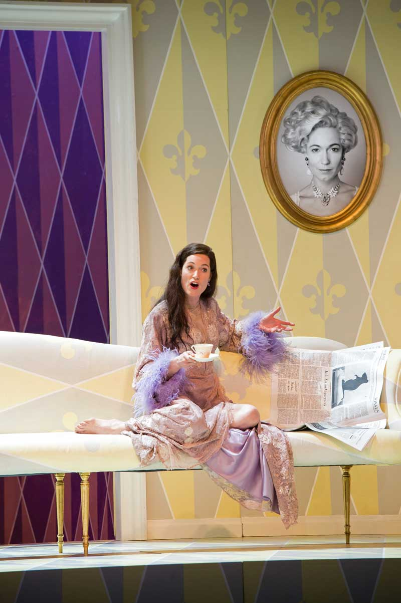 Kate Royal interprète La Maréchale dans <i>Le Chevalier à la rose</i> à Glyndebourne en 2014.  © Bill Cooper